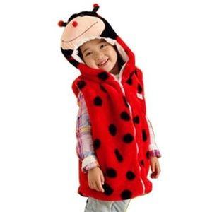 Kids Animal Ladybug Hooded Vest Costume Sz M